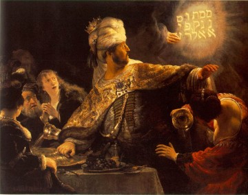 Belshazzars Feast Rembrandt Oil Paintings